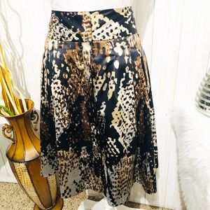 Worthington High Waisted Animal Print Skirt